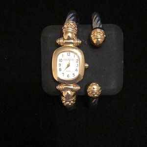 Vintage Joan Rivers Twisted Cable Watch & Bracelet